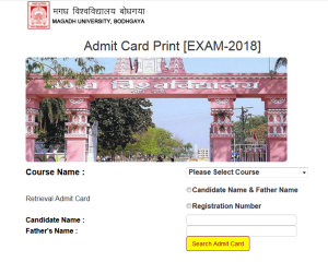Magadh University Admit Card 2019- Part 1 2 3 Ba Bsc B.Com Exam Date