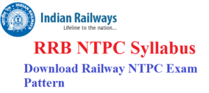 dOWNLOAD RRB NTPC Latest Syllabus 2019-20