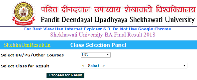 Shekhawati University Results