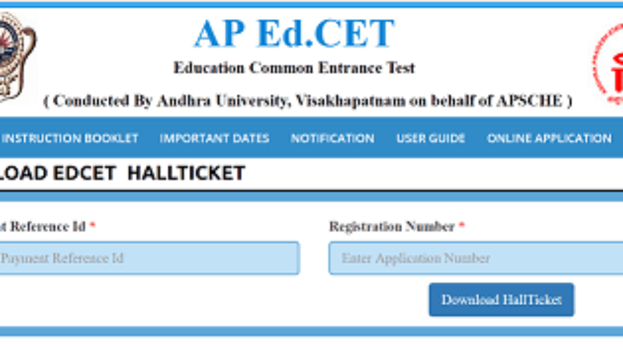 AP EdCET Hall Tickets 2019- [Available] AP Edu Entrance Test