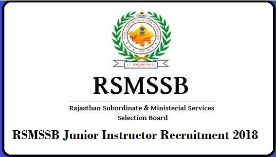 Download RSMSSB Junior Instructor Result 2019