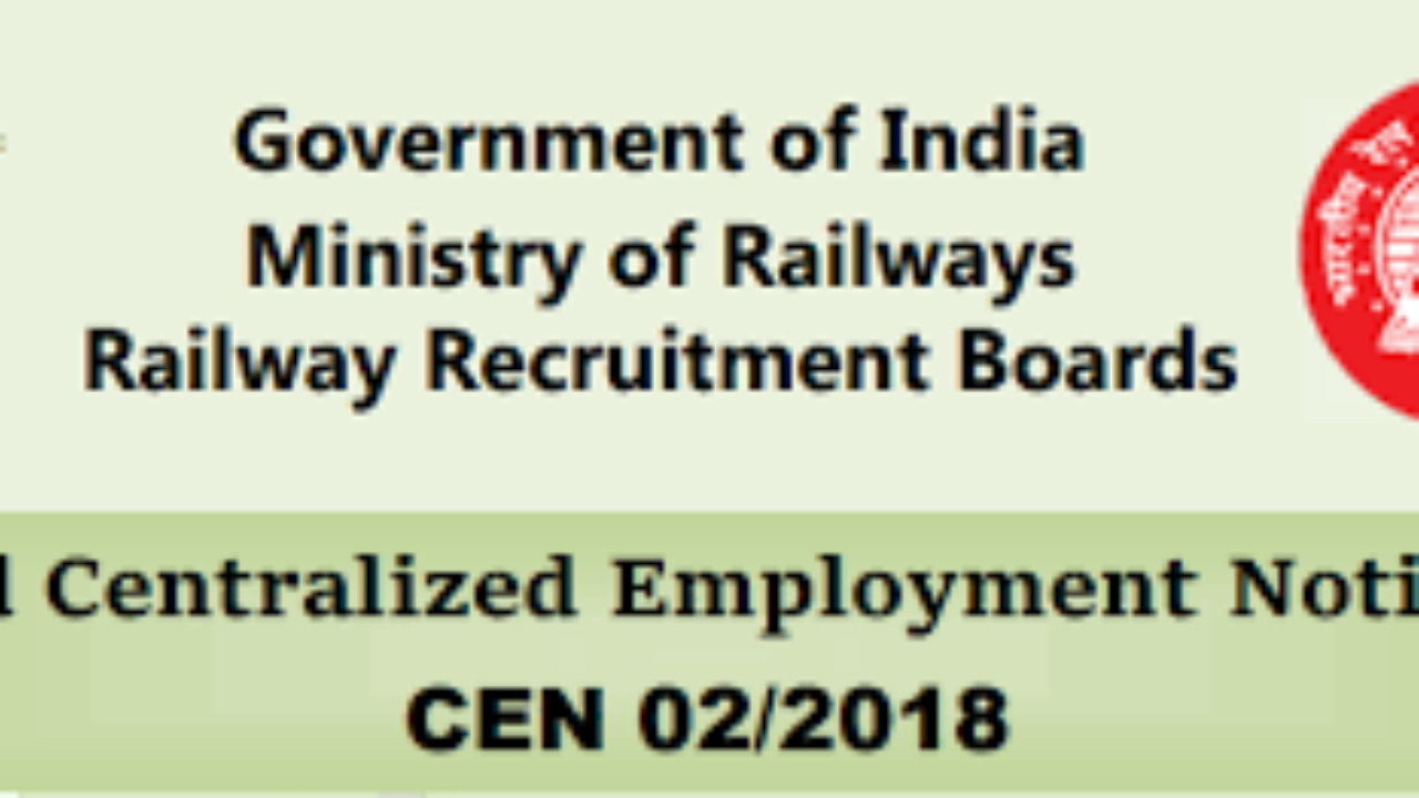 RRB Group D Recruitment Notification 2019 for 10,0000
