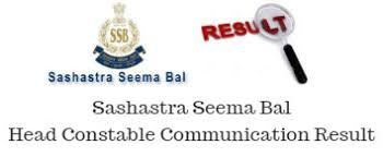 SSB Head Constable Result Date 2019