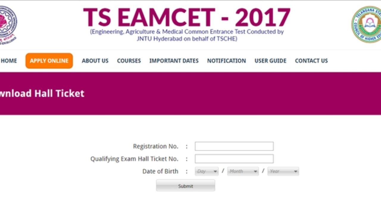 Download] TS EAMCET Hall Ticket 2019 -Telangana EAMCET Admit Card