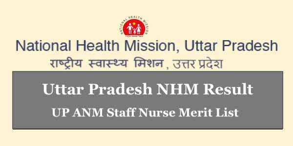 UP ANM Result 2019