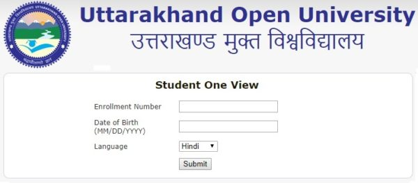 Uttarakhand Open University Results