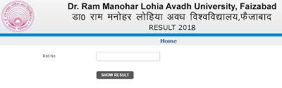 Avadh University Results 2019