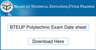 UPBTE Polytechnic Exam Scheme 2019 ODD / Even 1st,5th Semester back Exam