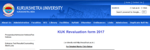 KUK Revaluation Result 2019 -Btech BCom 6th Sem/Final Result kuk.ac.in