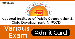 NIPCCD Research Assistant Admit Card 2019 Download NIPCCD Assistant Director Hall Ticket