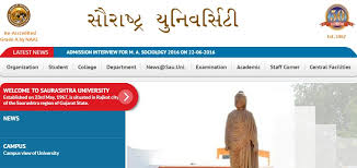 Saurashtra University 1/2/3/4/5/6th Sem Result