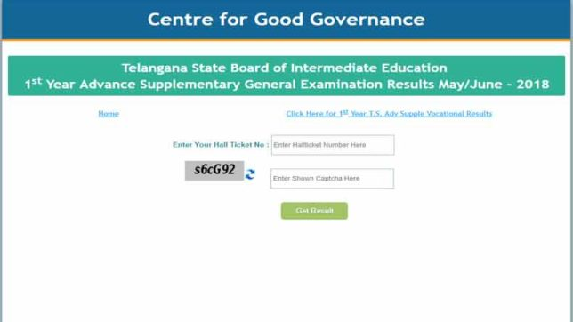 Telangana Inter 2nd Year Result