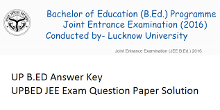 UP B.Ed Answer Key 2019 with paper solution pdf