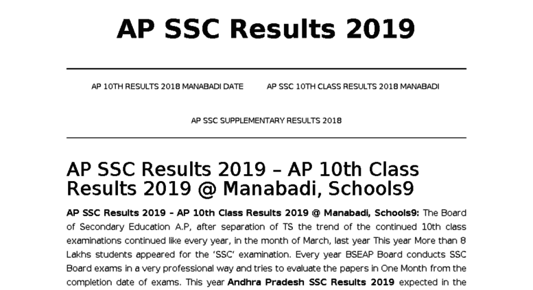AP 10th Class Supply Results 2019 - eamcet results - Eenadu: