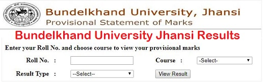BU Jhansi BSC 1st 2nd & Final Year Result 2020