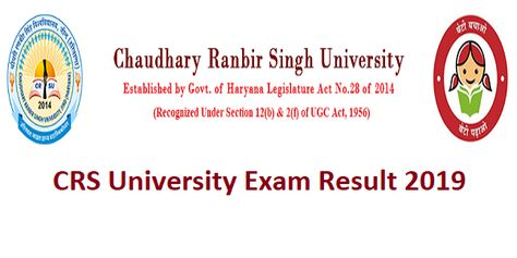 CRSU Results 2019 -Reappear & Re-evaluation Result For B.A B.ed M.com