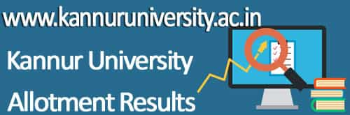 Kannur University first Allotment Results 2019