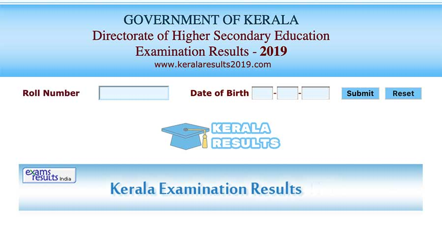 Kerala DHSE Results 2019 School Wise