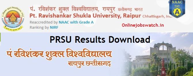 Pt Ravishankar University Result