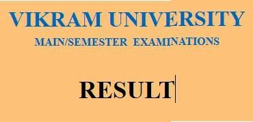 Vikram University Results 2019