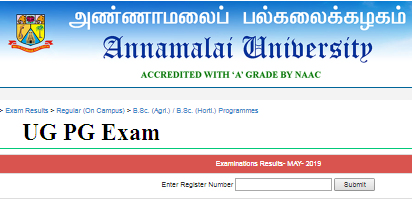 Anna University Results 2019 -April May UG PG 2 4 6 8th Sem