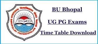 Barkatullah University 4th Sem Time Table 2019 -BU Bhopal BBA Bcom Bsc Date sheet