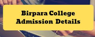 Birpara College Merit List 2019