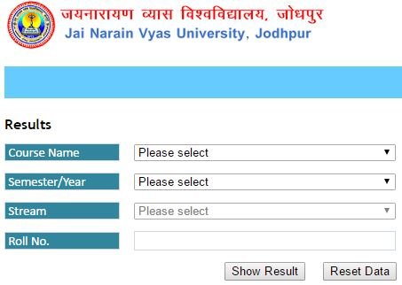 JNVU BSC Result 2019 -1st 2nd 3rd Year Jai Narain Vyas University
