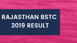 Rajasthan DIET BSTC 1st Year Results 2019 Date Name wise यहां देखें