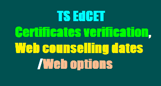 TS EDCET Counselling Dates 2019