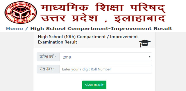 UP Board 10th 12th Supplementary Results 2019 -UPMSP Compartment Result