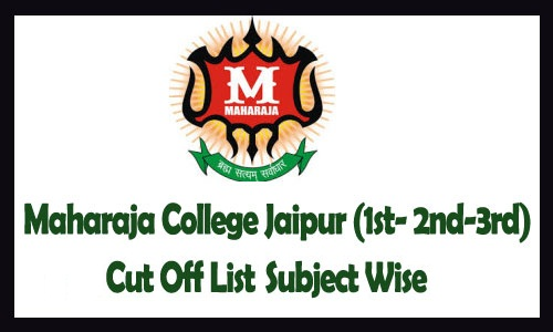 maharaja College Jaipur Cut Off List 2019
