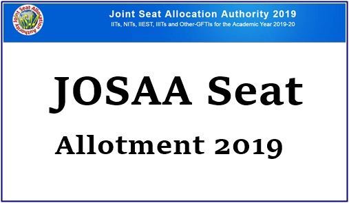 JoSAA Mock Seat Allotment 2019 -1st