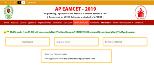 AP EAMCET Counselling 2019 -Rank Wise First Seat Allotment List Result