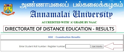 Annamalai University DDE Result