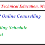 DTE MP BE Online Counselling Result 2019, Second Seat Allotment List