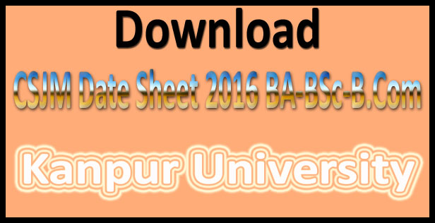 CSJM Kanpur University Exam Scheme 2020