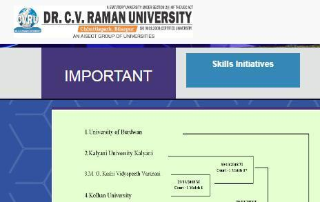 CV Raman University Time Table