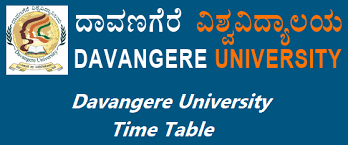 Davangere University Time Table 2019