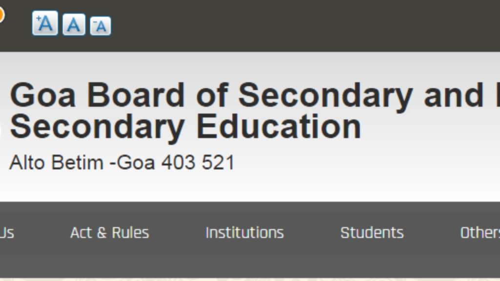 Goa SSC Board Time Table 2020