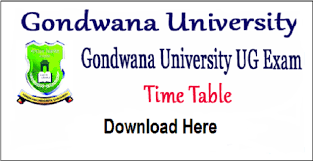 Gondwana University Winter Time Table 2019