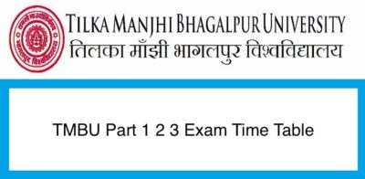 Bhagalpur University Time Table 2020