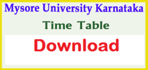 mysore university time table 2019