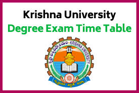 Krishna University 1st, 3rd, 5th Sem (CBCS) Time Table 2019