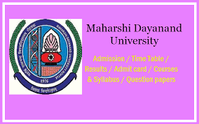 Maharshi Dayanand University Time Table