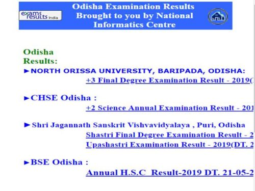 North Orissa University Result 1st,2nd, +3 UG/PG 2020,
