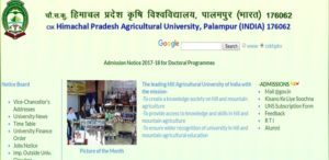 Palampur Agricultural University Result