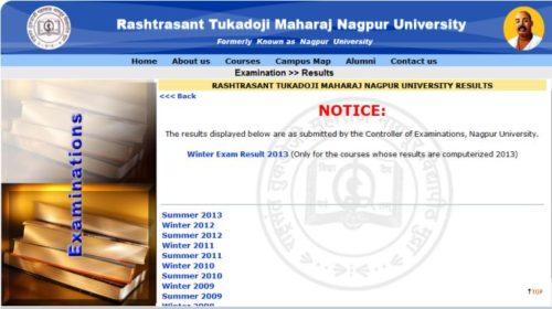 rashtrasant tukadoji maharaj nagpur university result