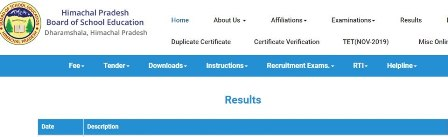 HPBOSE 10th 12th Revaluation/ Re-checking Result