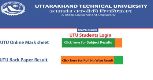 Uttarakhand Technical University Result